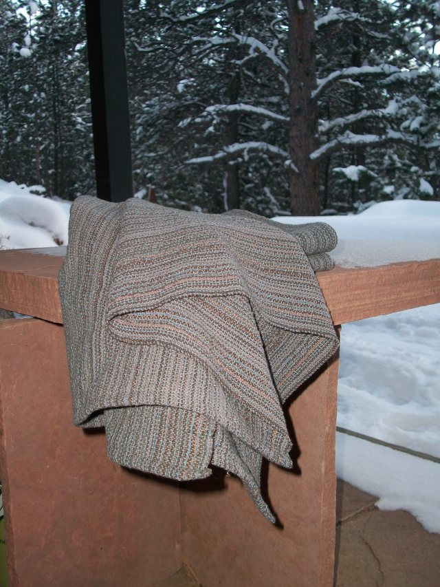 towels on a snowy day